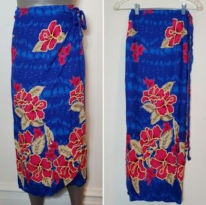Tropical Floral Print Wrap
